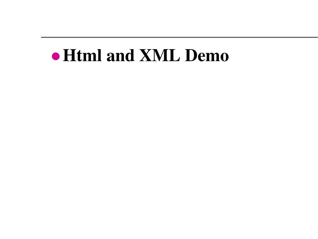 Html and XML Demo