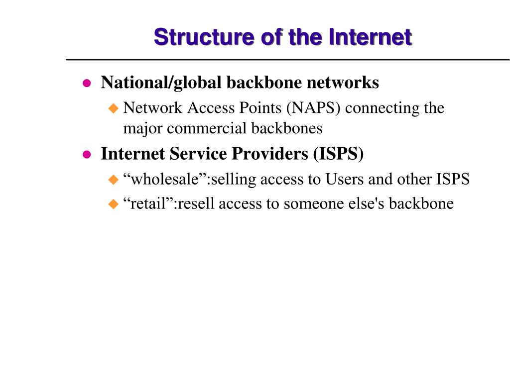 Structure of the Internet