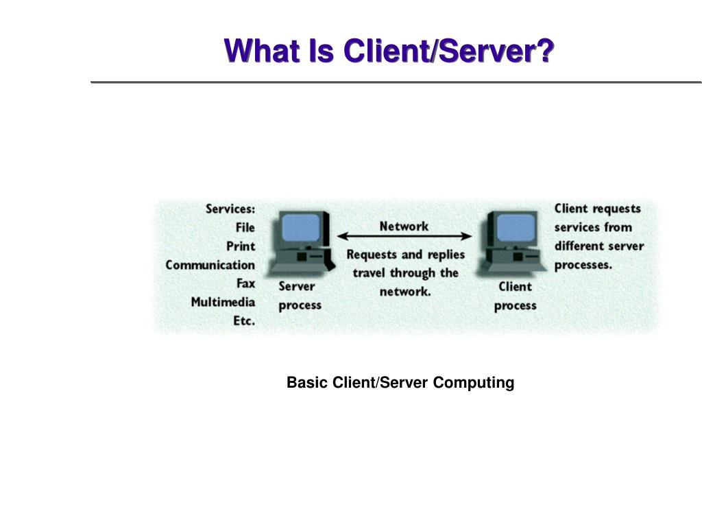 What Is Client/Server?
