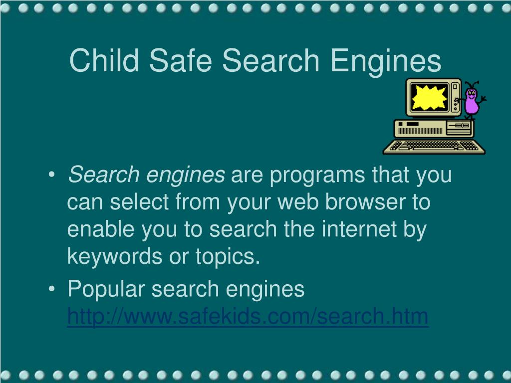 Child Safe Search Engines