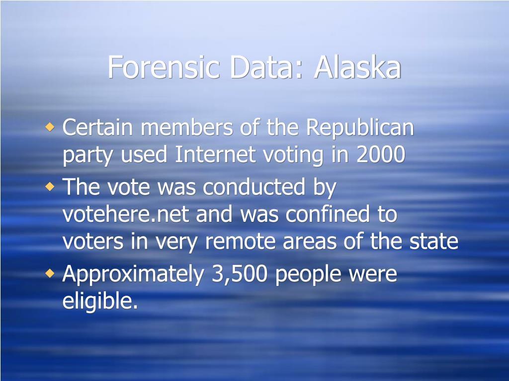 Forensic Data: Alaska