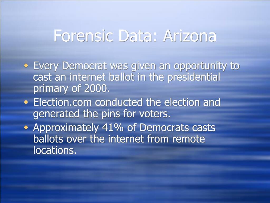 Forensic Data: Arizona