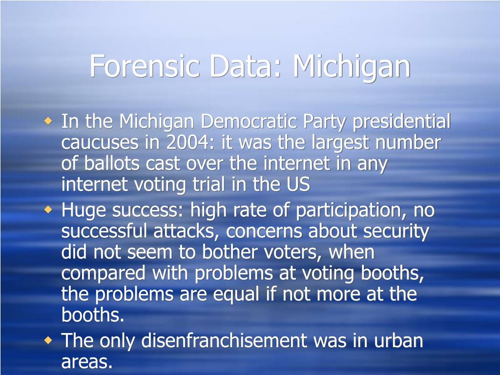 Forensic Data: Michigan
