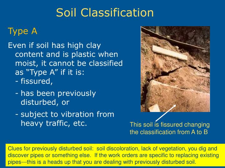 Ppt excavation and trenching powerpoint presentation for Soil description