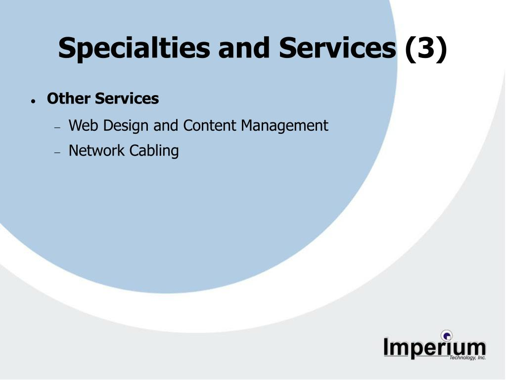 Specialties and Services (3)