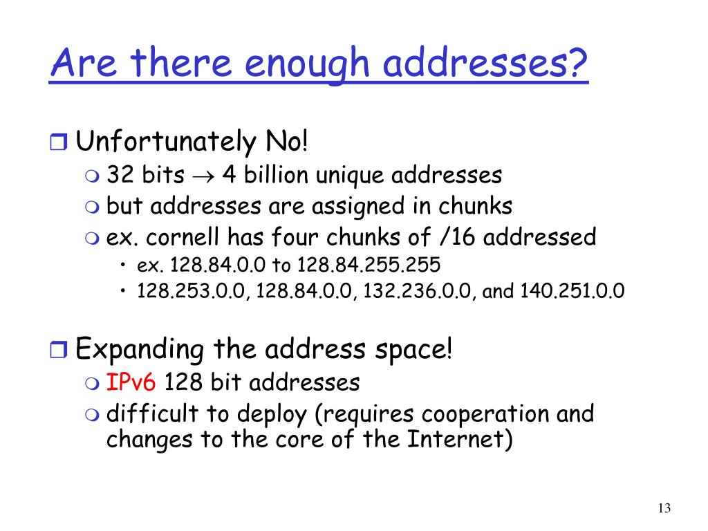 Are there enough addresses?