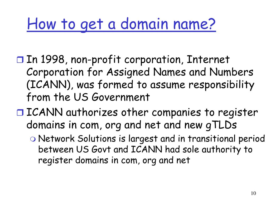 How to get a domain name?