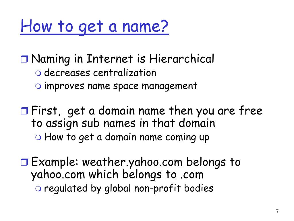 How to get a name?