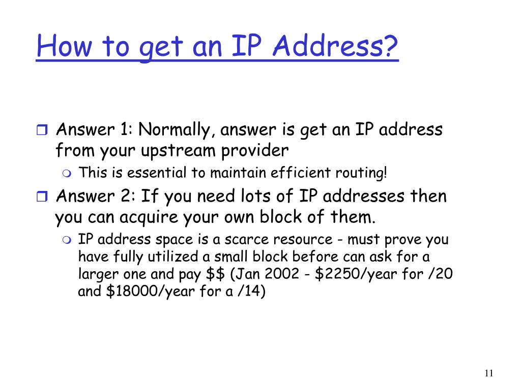 How to get an IP Address?