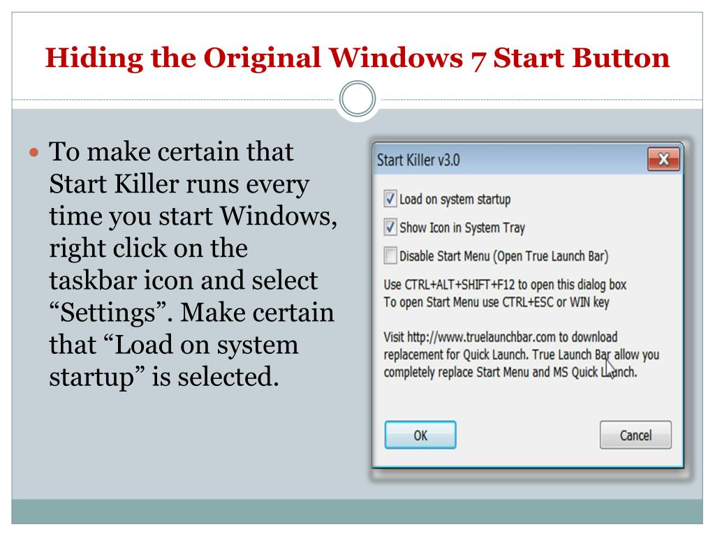 Hiding the Original Windows 7 Start Button