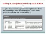 hiding the original windows 7 start button11