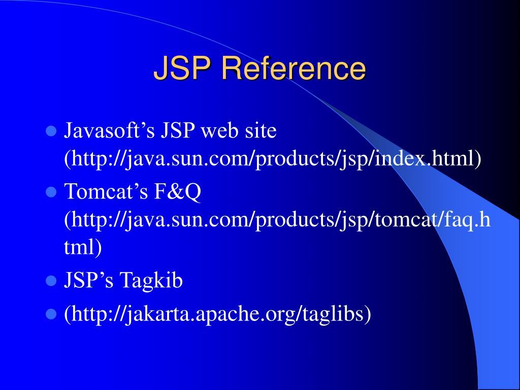 JSP Reference