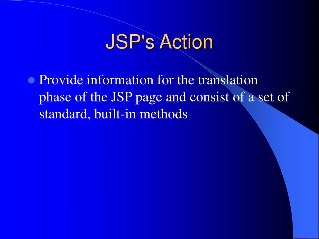 JSP's Action