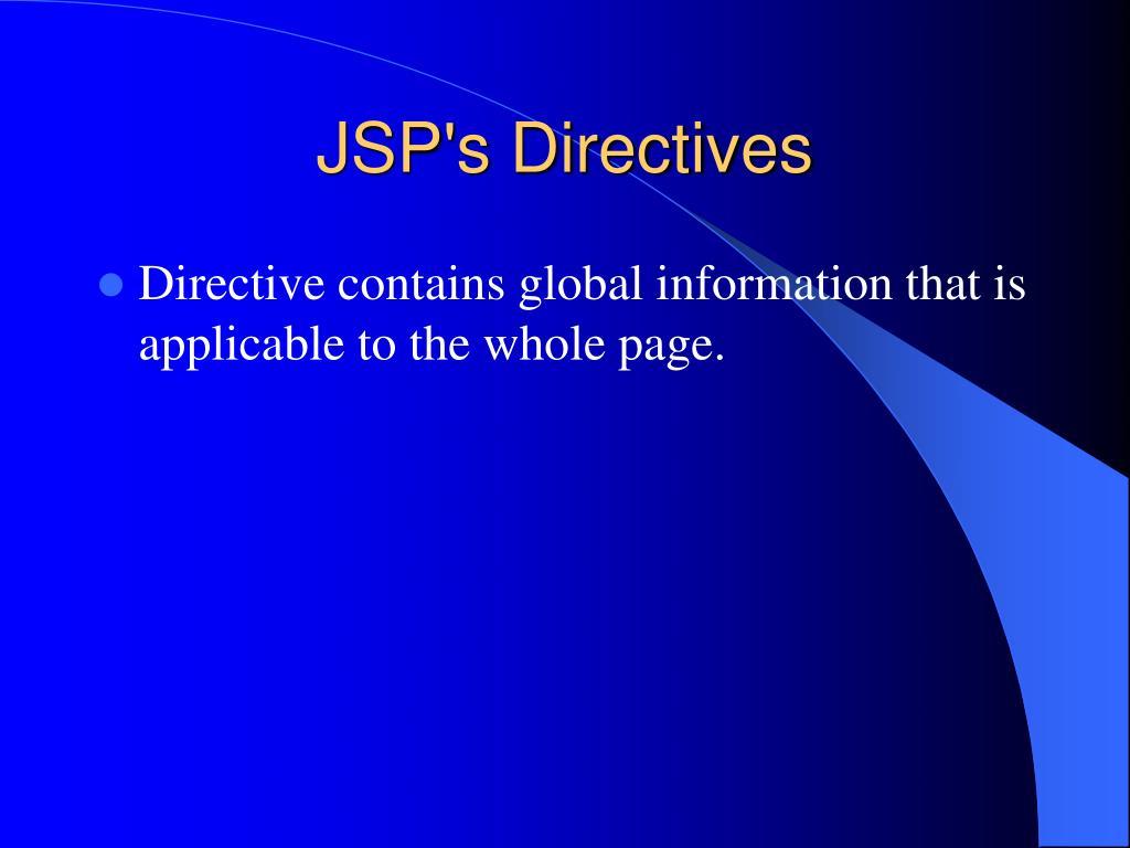 JSP's Directives