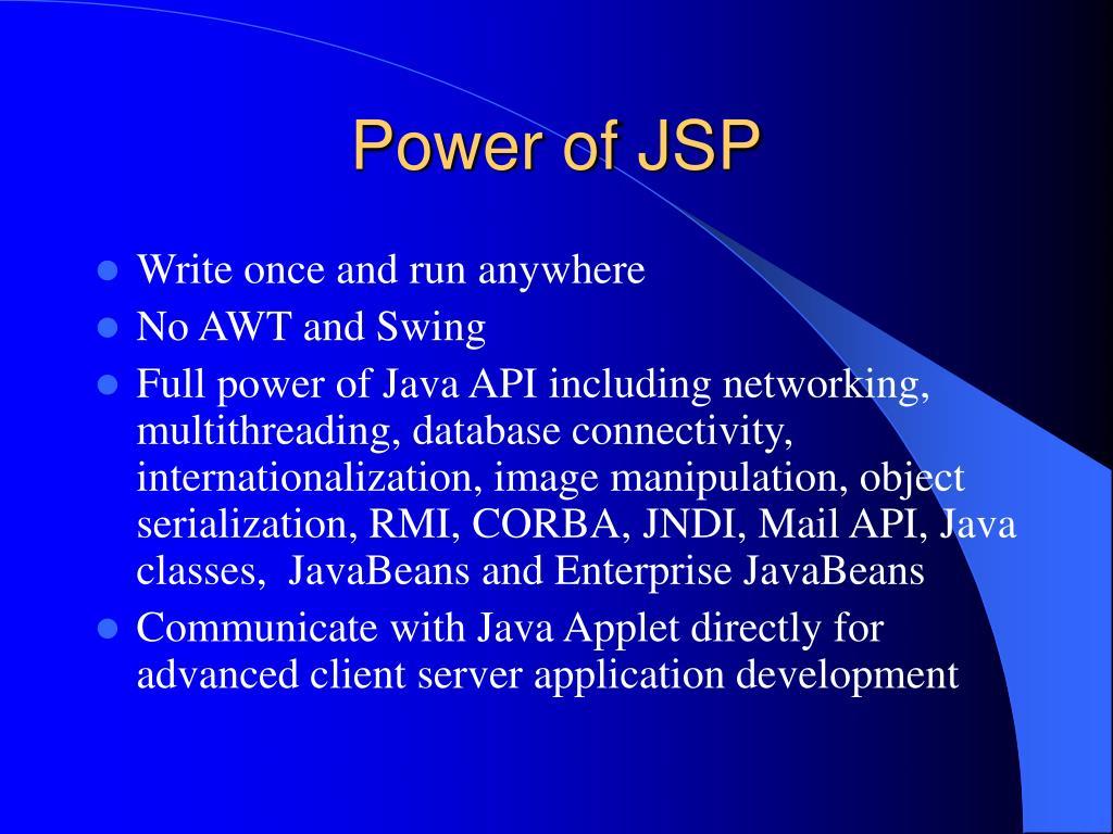 Power of JSP