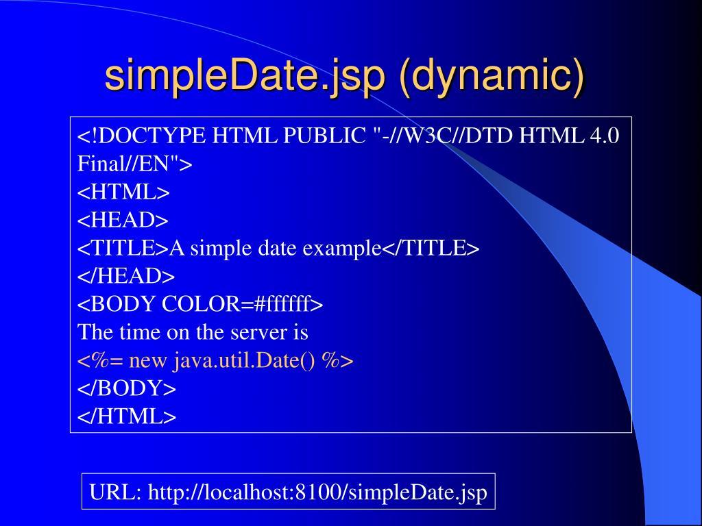 simpleDate.jsp (dynamic)