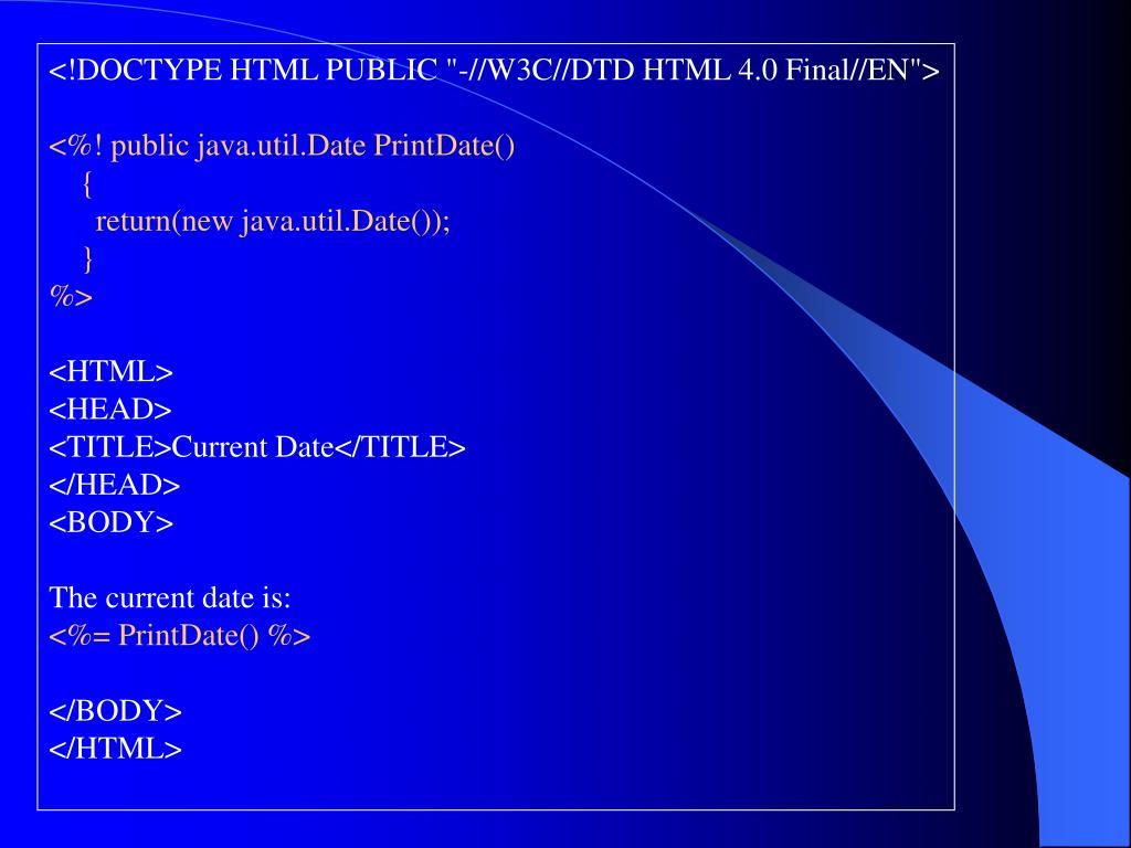 """<!DOCTYPE HTML PUBLIC """"-//W3C//DTD HTML 4.0 Final//EN"""">"""