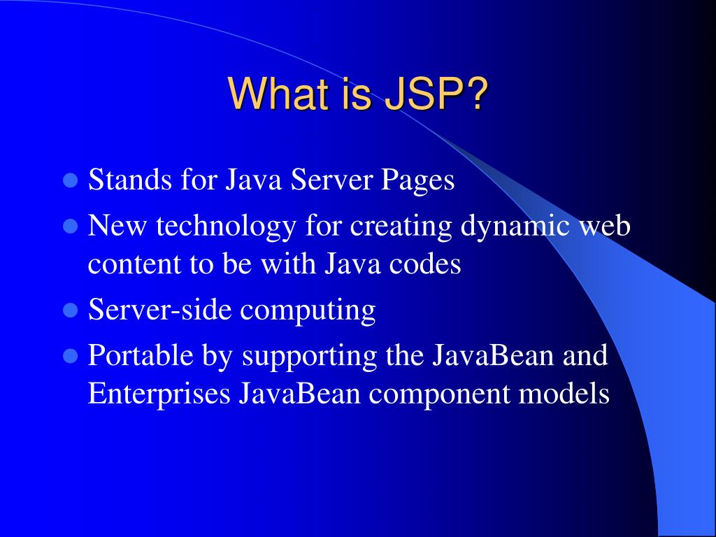 What is JSP?