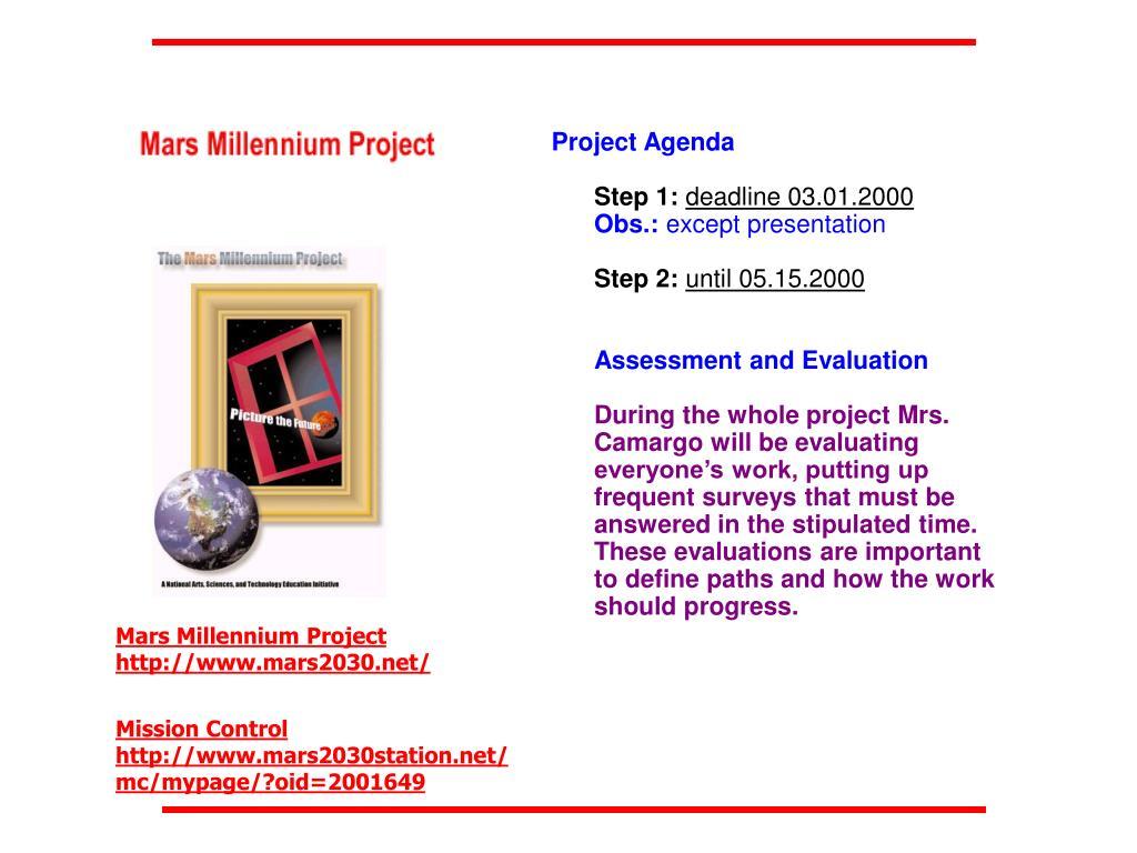 Project Agenda