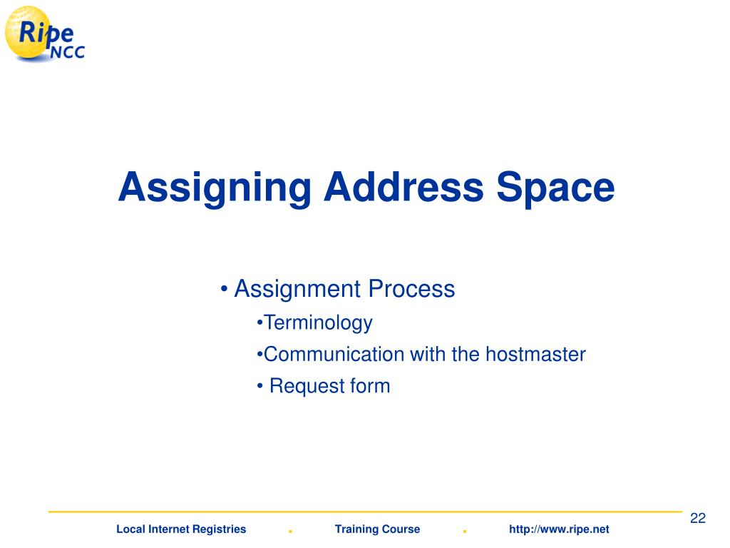 Assigning Address Space