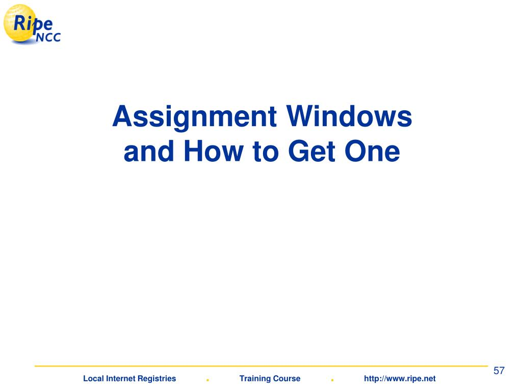 Assignment Windows