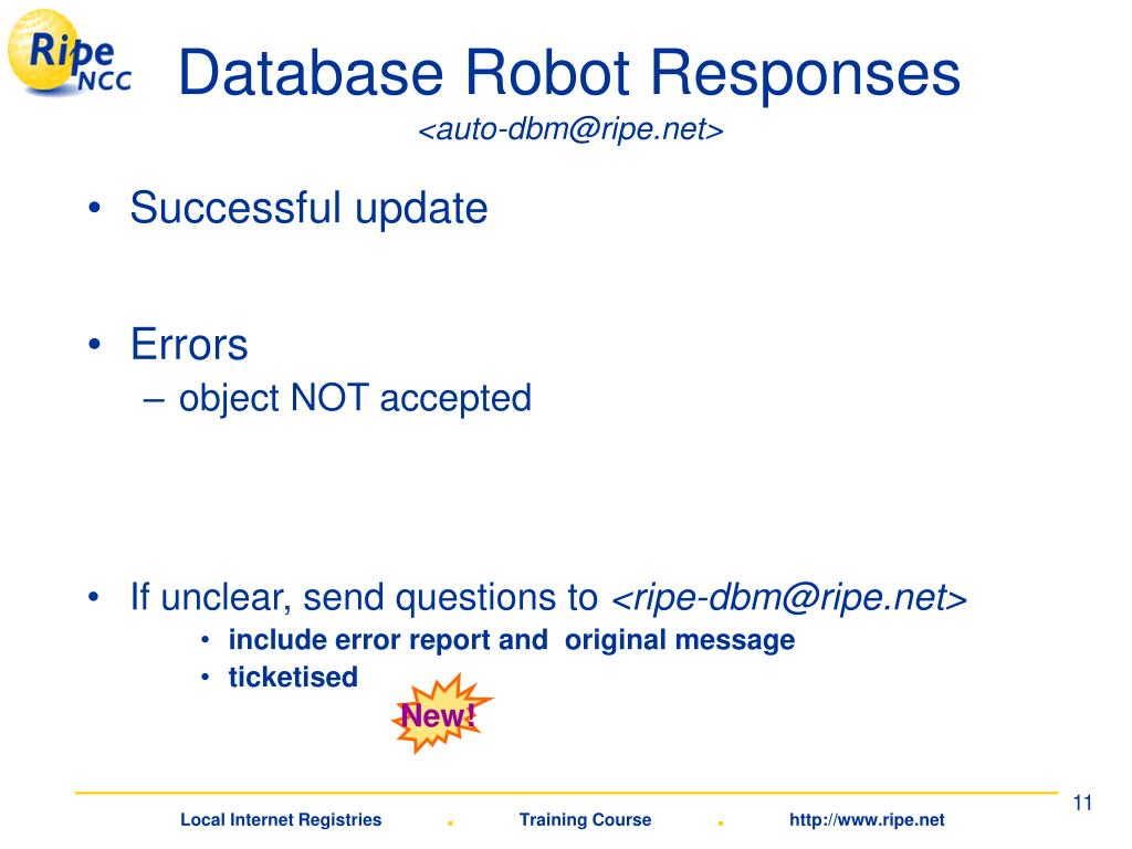 Database Robot Responses