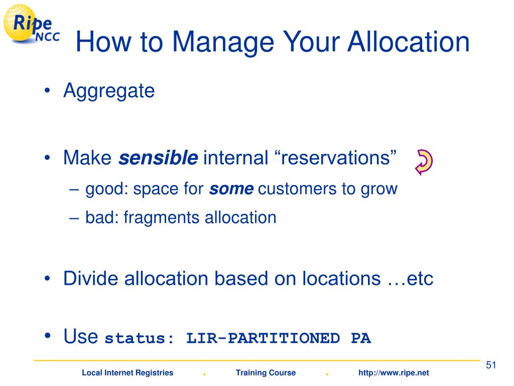 How to Manage Your Allocation