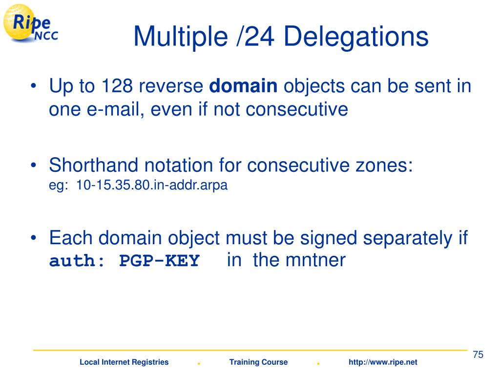 Multiple /24 Delegations