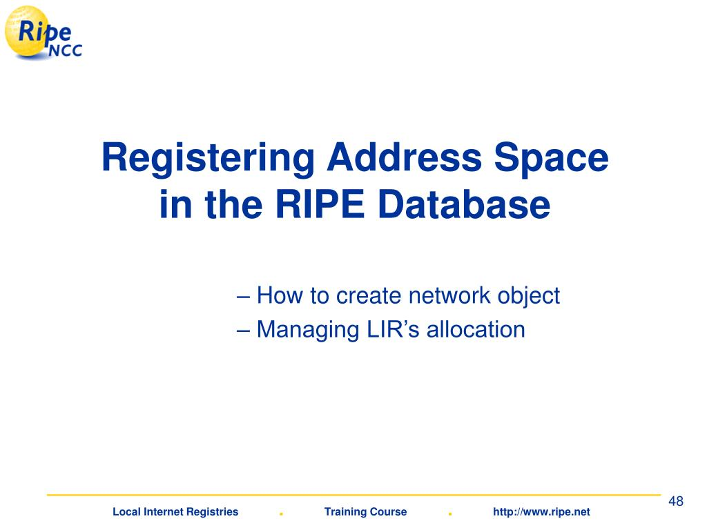 Registering Address Space