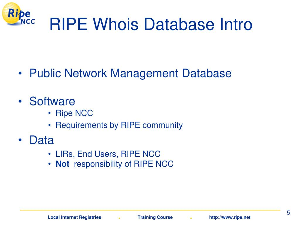 RIPE Whois Database Intro