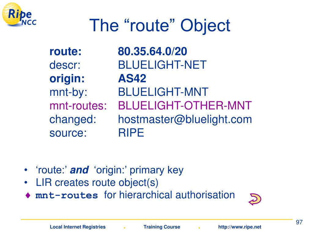 "The ""route"" Object"