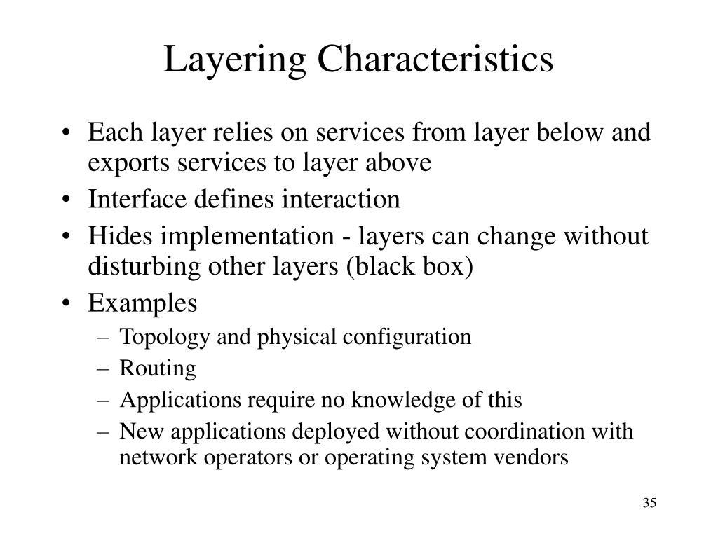Layering Characteristics
