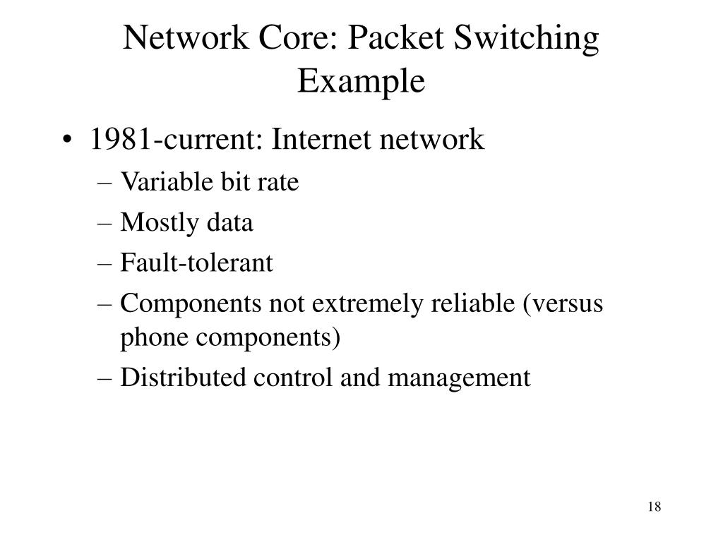 Network Core: Packet Switching Example