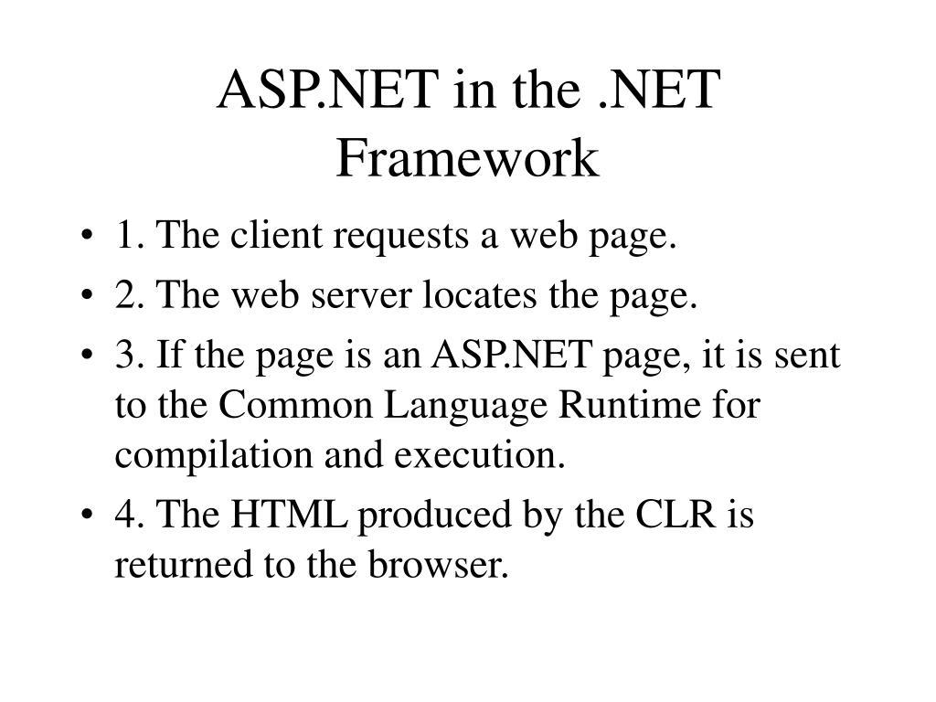 ASP.NET in the .NET Framework