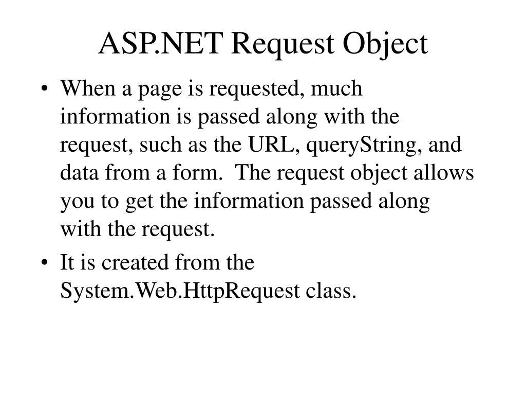ASP.NET Request Object