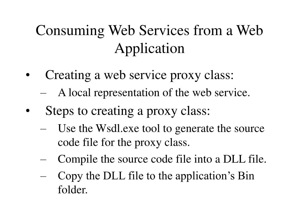 Consuming Web Services from a Web Application