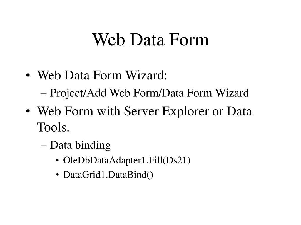 Web Data Form