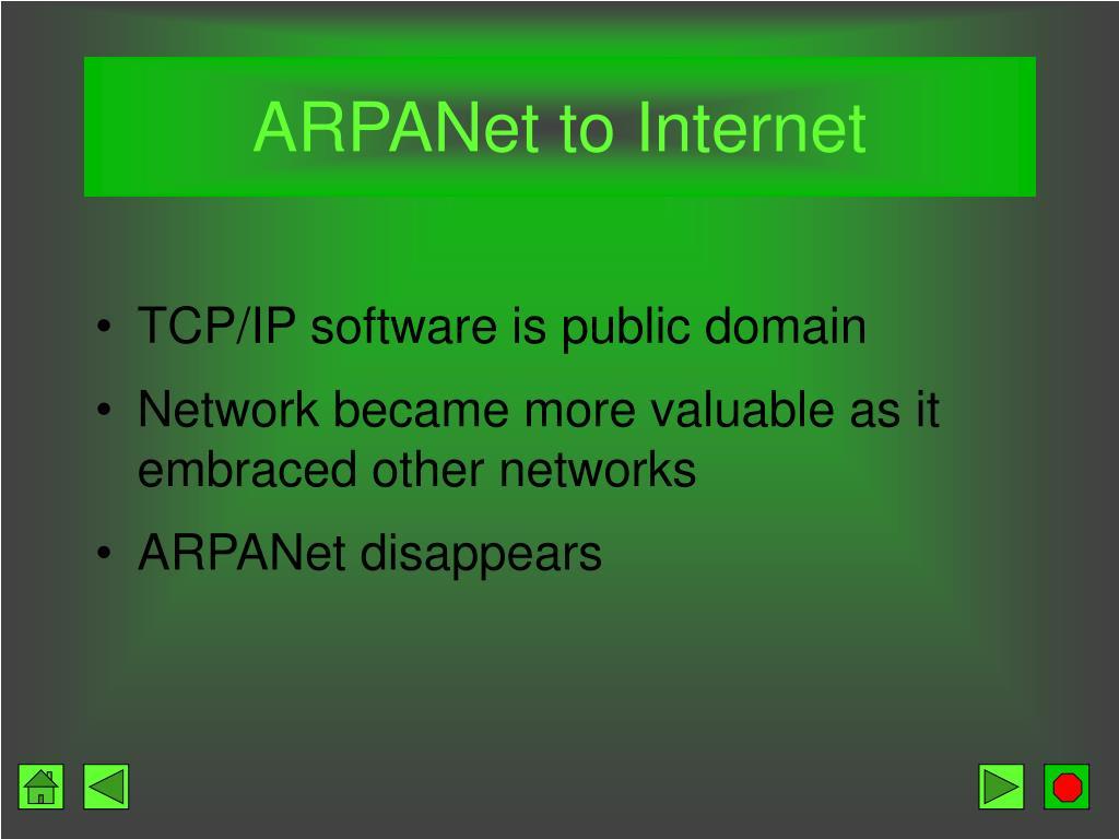 ARPANet to Internet