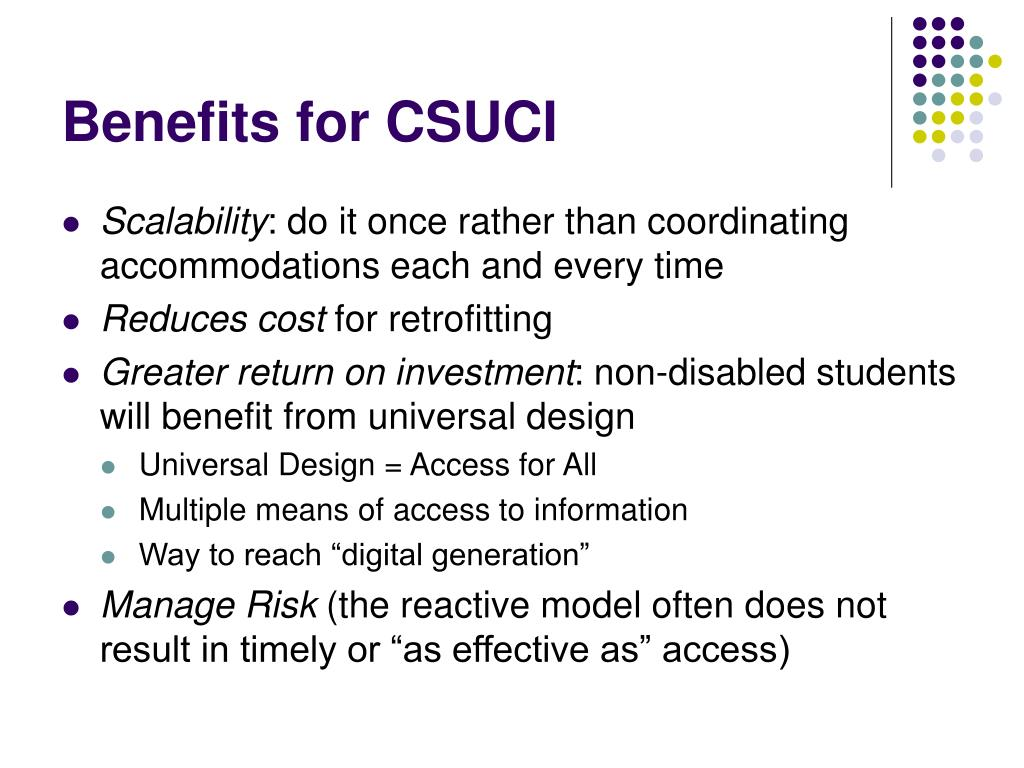 Benefits for CSUCI