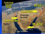 exodus major events map