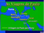 paul journey to rome