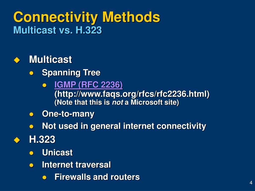 Connectivity Methods