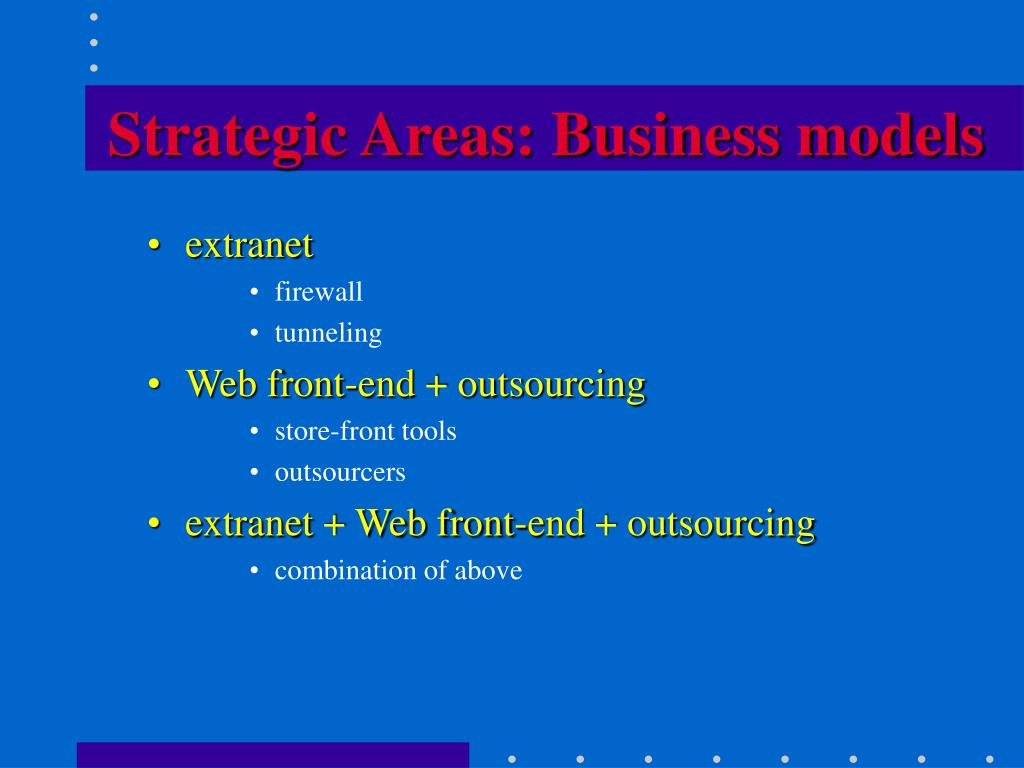 Strategic Areas: Business models
