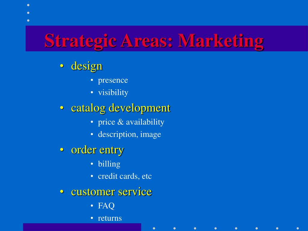 Strategic Areas: Marketing