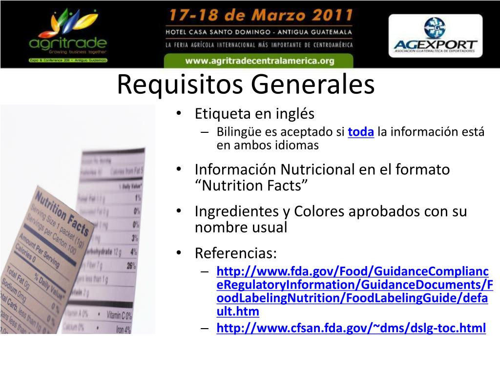 Requisitos Generales