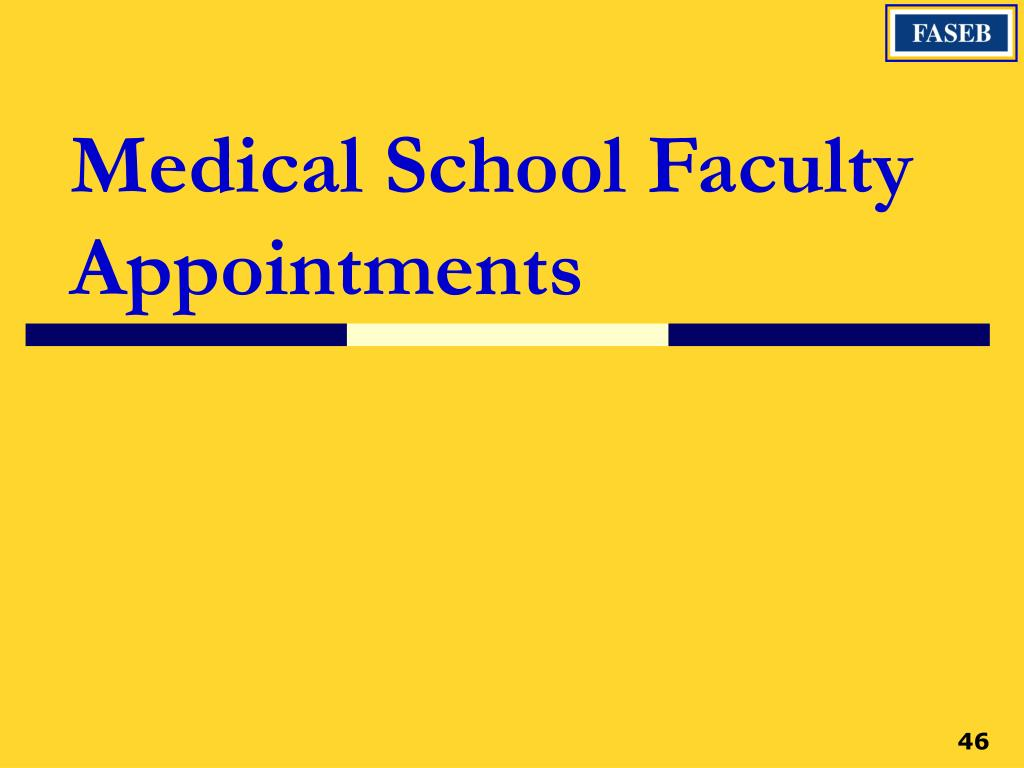 Medical School Faculty Appointments