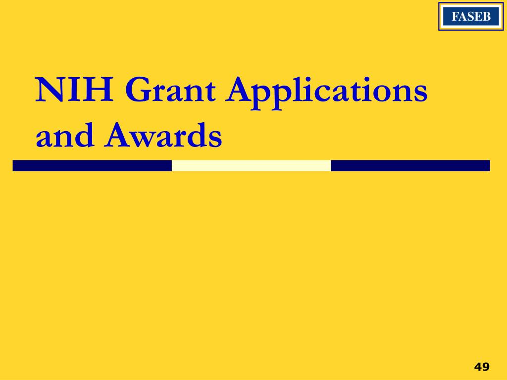 NIH Grant Applications and Awards