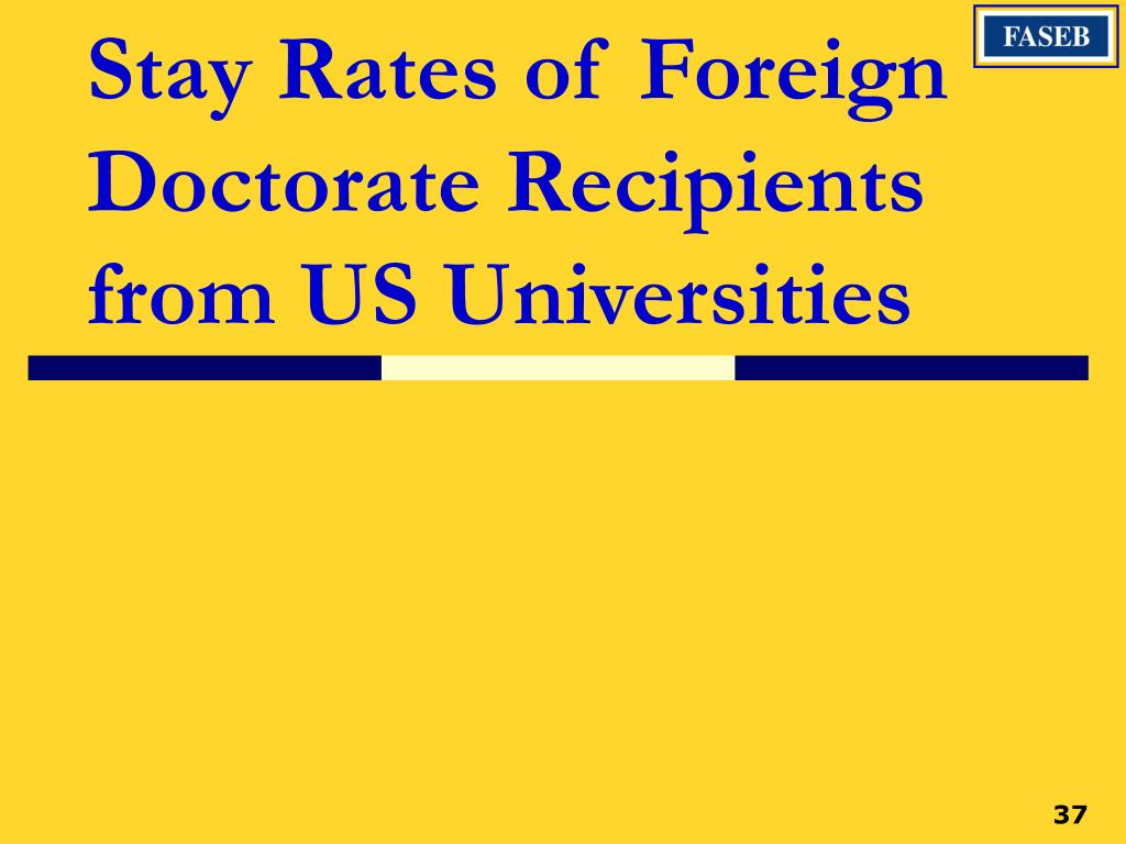 Stay Rates of Foreign Doctorate Recipients from US Universities