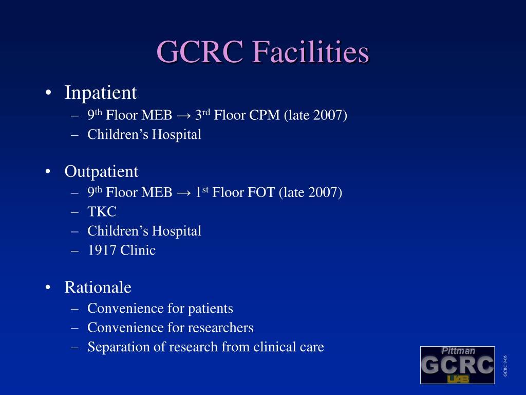GCRC Facilities