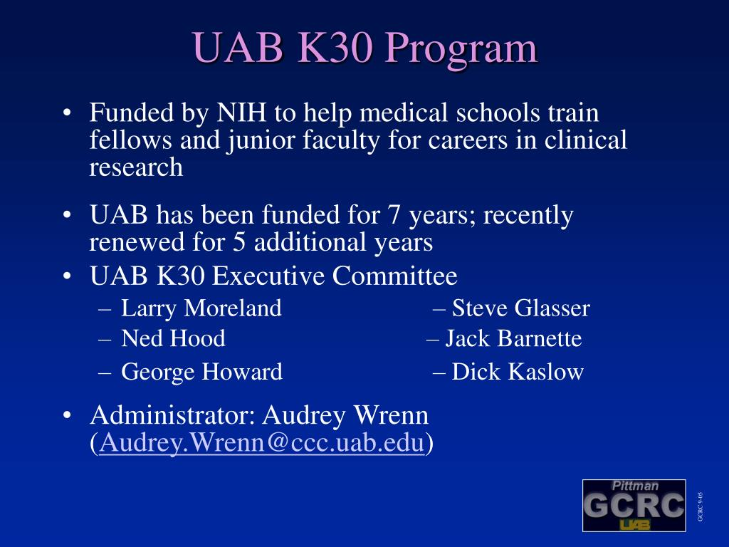 UAB K30 Program